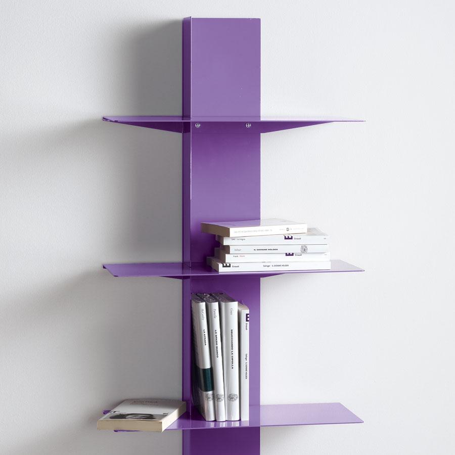 Libreria da parete design lui arredamenti for Mensole alluminio